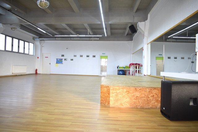Studio aerobic Sibiu cu podium.