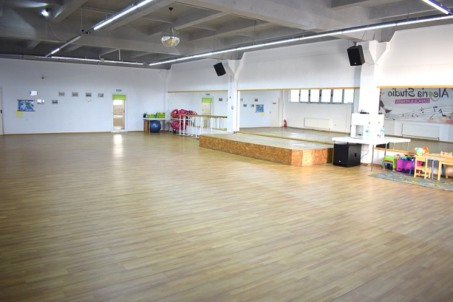 Sala aerobic Sibiu cu loc de joaca copii.